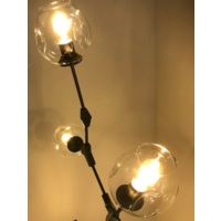 Hanglamp Graham 3L Zwart Frame - 3 glas keuzes
