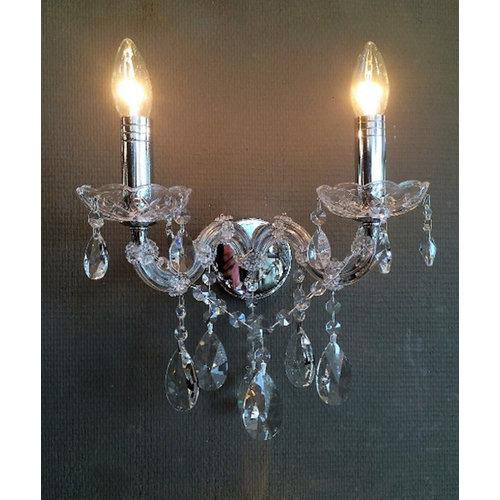 Wandlamp Kristal 2L