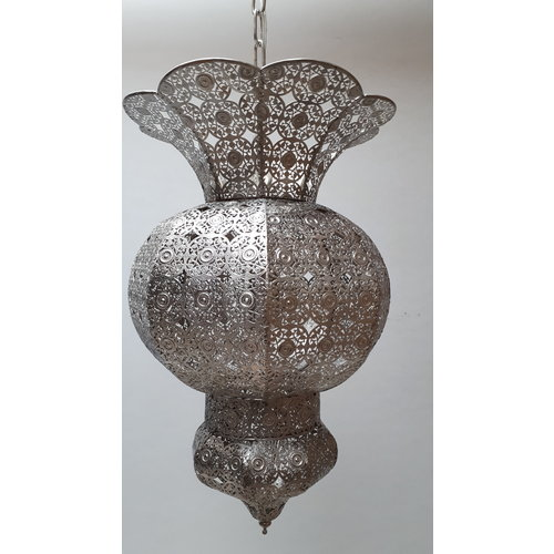 Marokkaanse hanglamp Zaza filigrain zilver