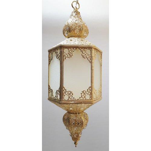 Oriëntaalse hanglamp Jafar filigrain 2 kleuren