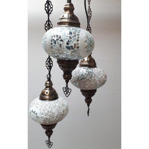 Hanglamp pompoen wit in meerdere uitvoeringen