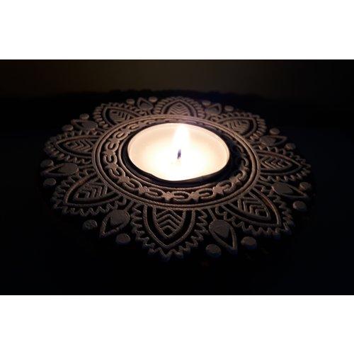 Waxinelichthouder Mandala in 2 uitvoeringen