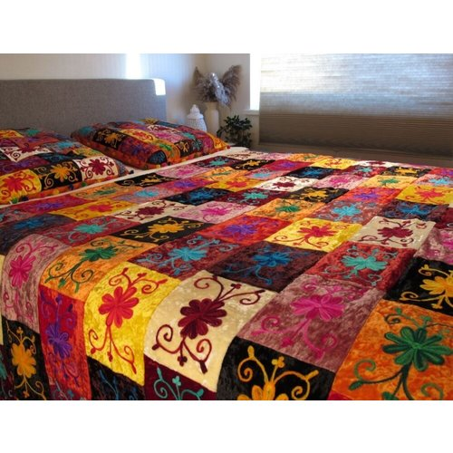 Bedsprei Thalia Patchwork Multi-Colour