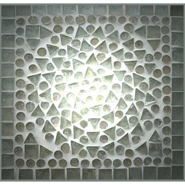 Bijzettafel transparant mozaiek