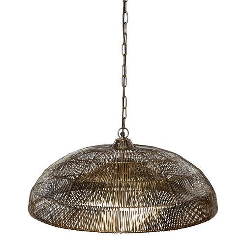 Hanglamp Oskar goud + led lamp cadeau