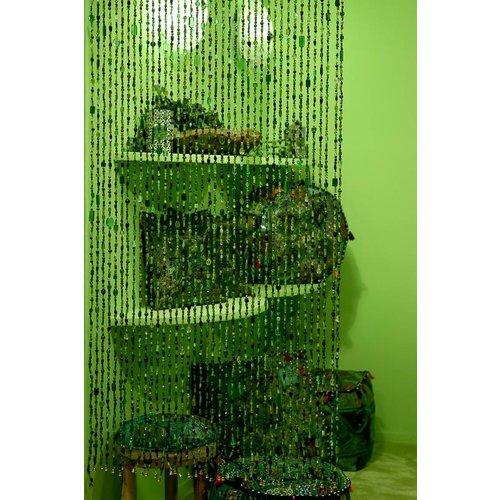 Gordijn Aneesha groen - maatwerk mogelijk