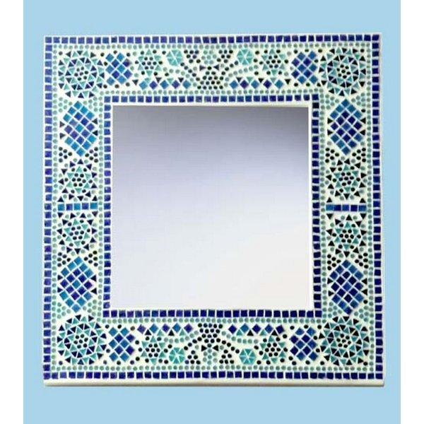 Spiegel blauw mozaiek