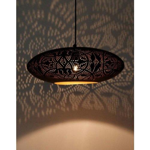 Hanglamp Ameera zwart/goud elipse