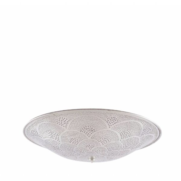 Egyptische plafondlamp zilver