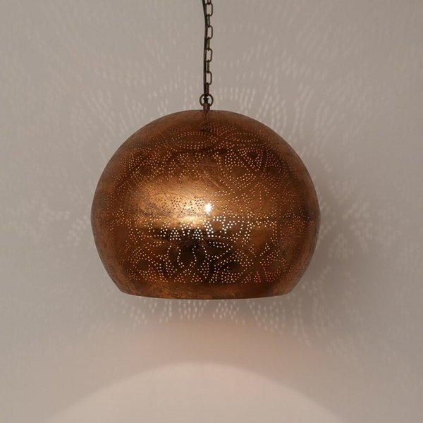 Hanglamp Ameera koper bol - in 2 diameters verkrijgbaar