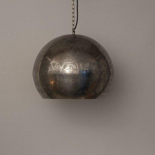 Hanglamp Ameera zilver bol - in 2 diameters verkrijgbaar