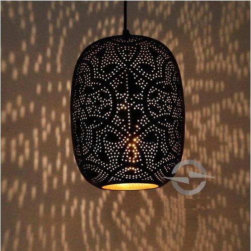 Hanglamp Ameera zwart/goud egg