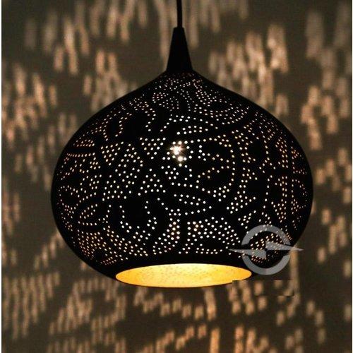 Hanglamp Ameera zwart/goud union