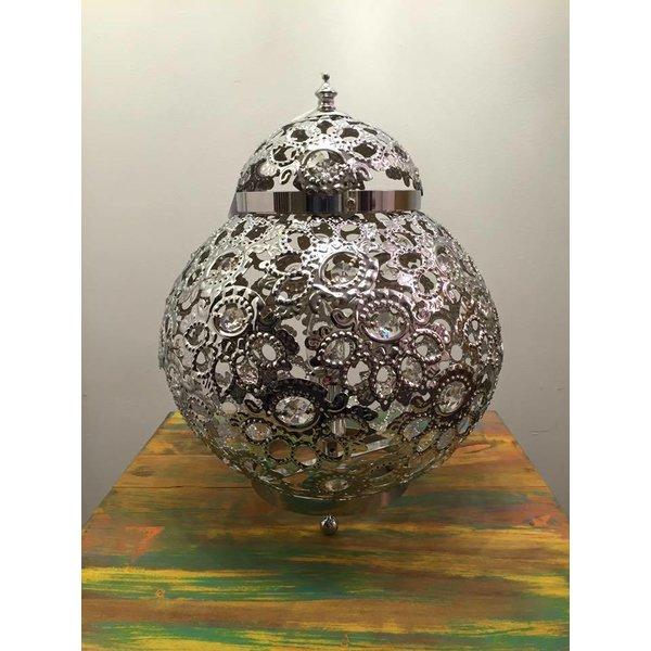Filigrain Djer tafellamp chroom