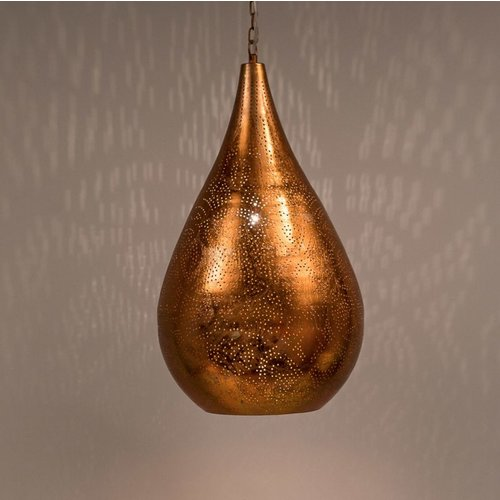 Hanglamp Ameera koper druppel