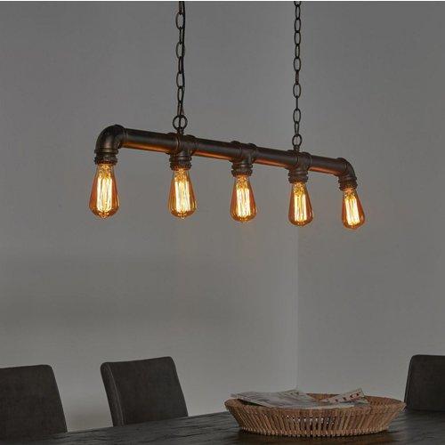 Industrial/Vintage eettafellamp + led lampen cadeau