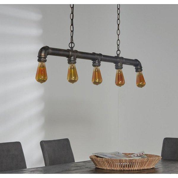Industriele hanglamp Guzman + led lampen cadeau