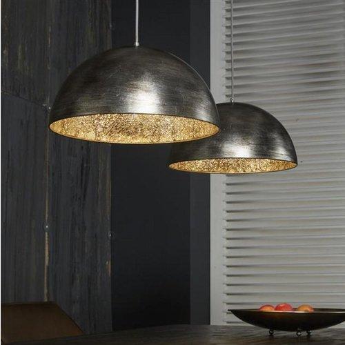 Hanglamp silvery-mirror inside + 2 led gloeilampen cadeau