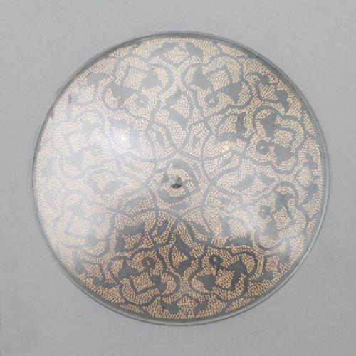Egyptische plafondlampen mat zilver