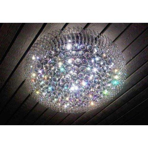 Plafondlamp Asfour kristal in 3 diameters