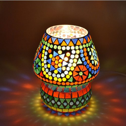 Tafellamp pad gekleurd mozaiek