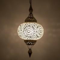 Hanglamp pompoen transparant mozaiek