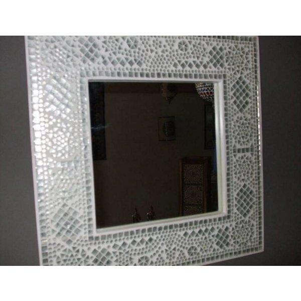 Spiegel transparant mozaiek