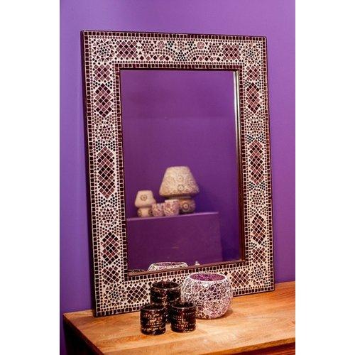 Spiegel paars mozaïek