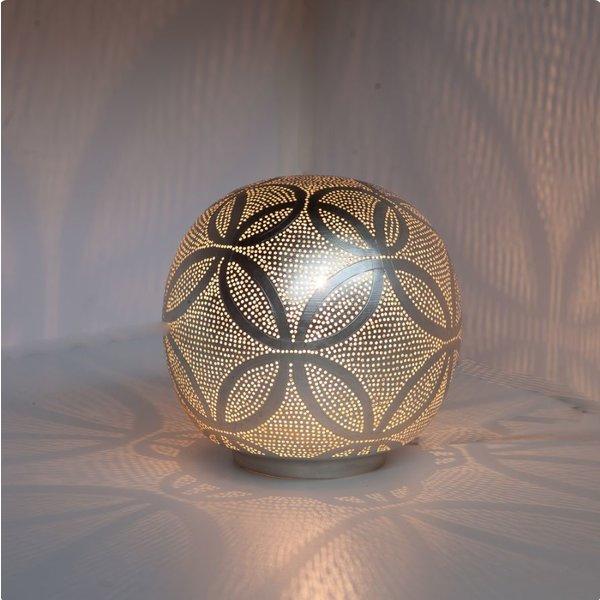 Table Lamp Ball Circles Silver