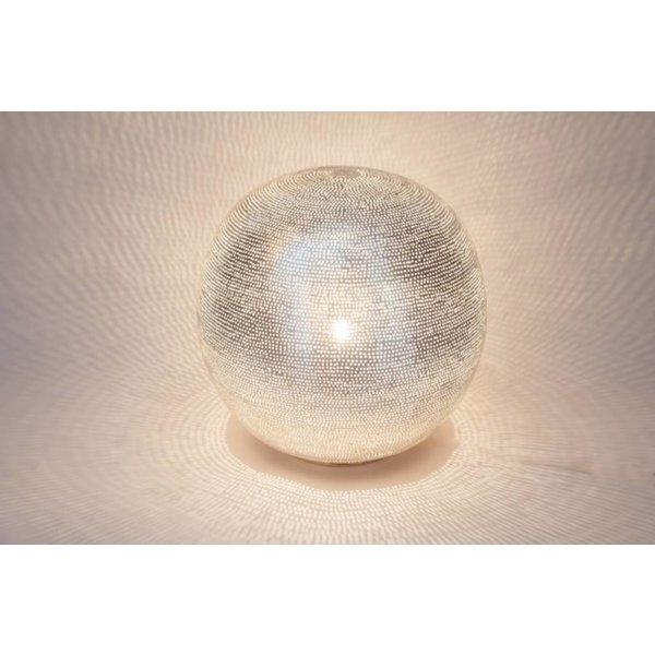 Table Lamp Ball Filisky Silver