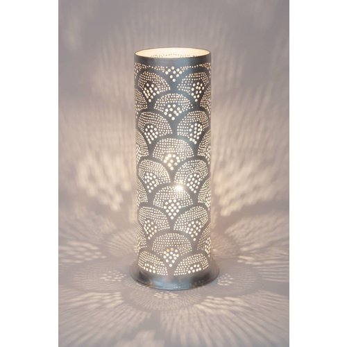 Table Lamp Tally Fan Silver