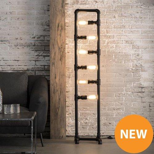 Vloerlamp 6L industrial tube + 6 led gloeilampen cadeau