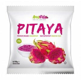 AmaVida Bevroren Pitahaya / Dragon Fruit pulp (organisch) - 15 x (4 x 100 gram) - 6 kg