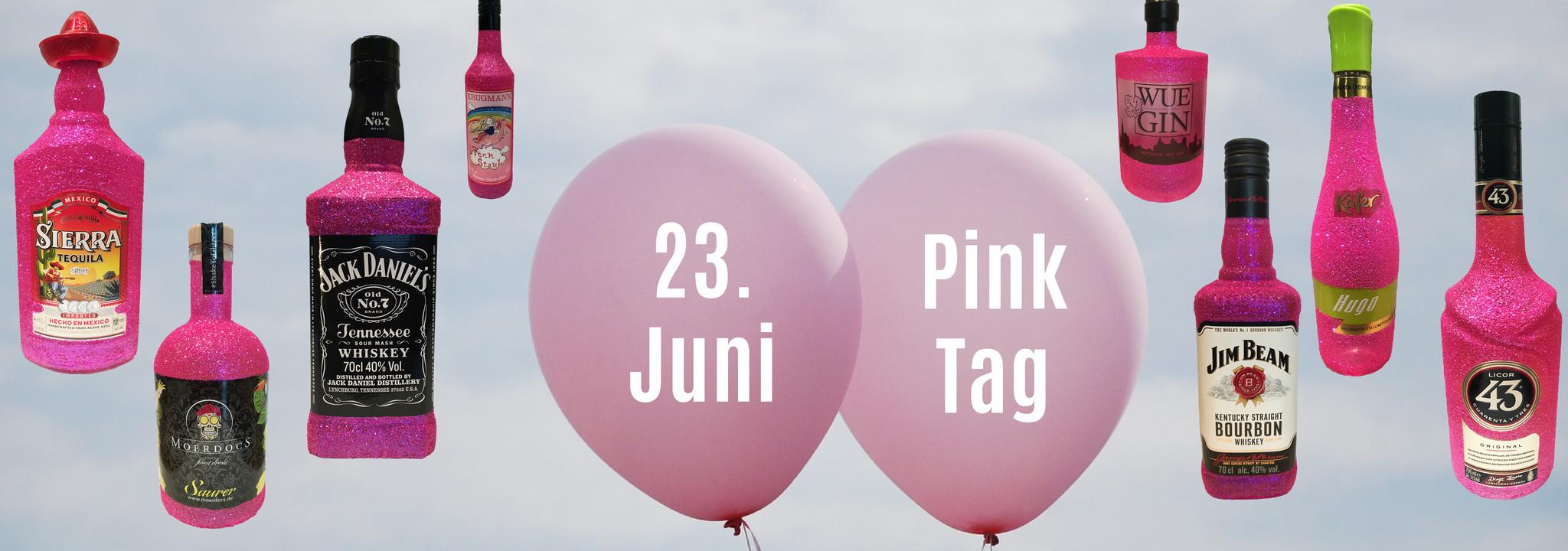 Am 23. Juni ist der Pink Tag - Glitzert mit