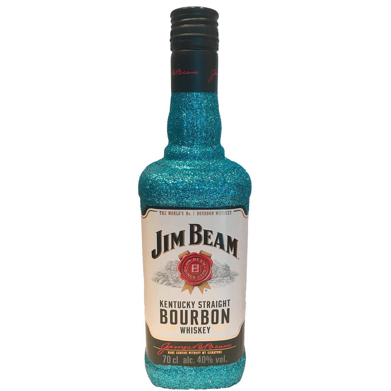 Jim Beam Glitzerflasche Azur Blau