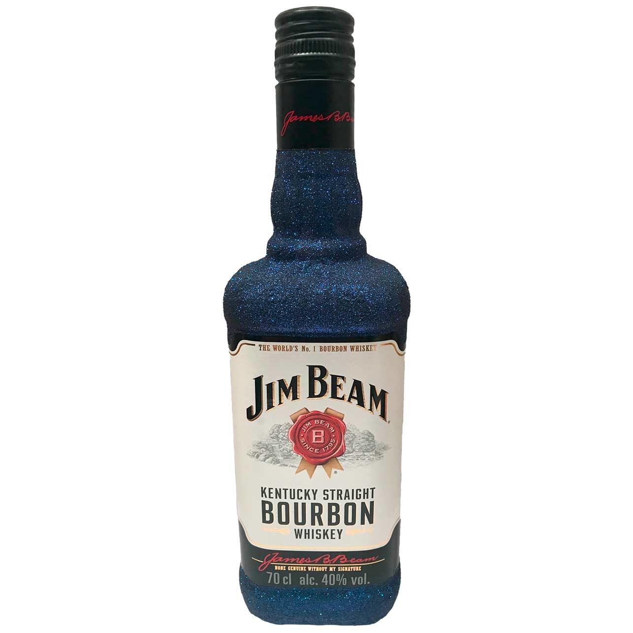 Jim Beam Glitzerflasche schwarz