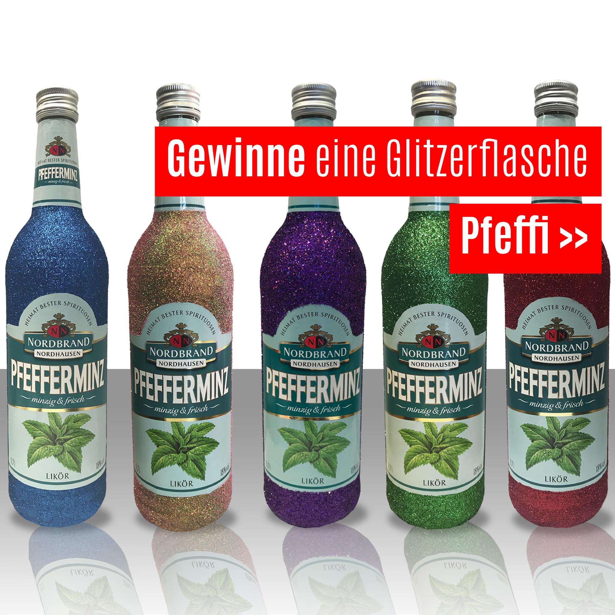 Instagram Gewinnspiel Glitzer PFEFFI !! GEWINNE!!! Glitzer !!!! Glitzerflasche !!!