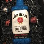 Geschenkset Glitzer Geschenkset (Flasche + Box) Jim Beam Kentucky Straight Bourbon