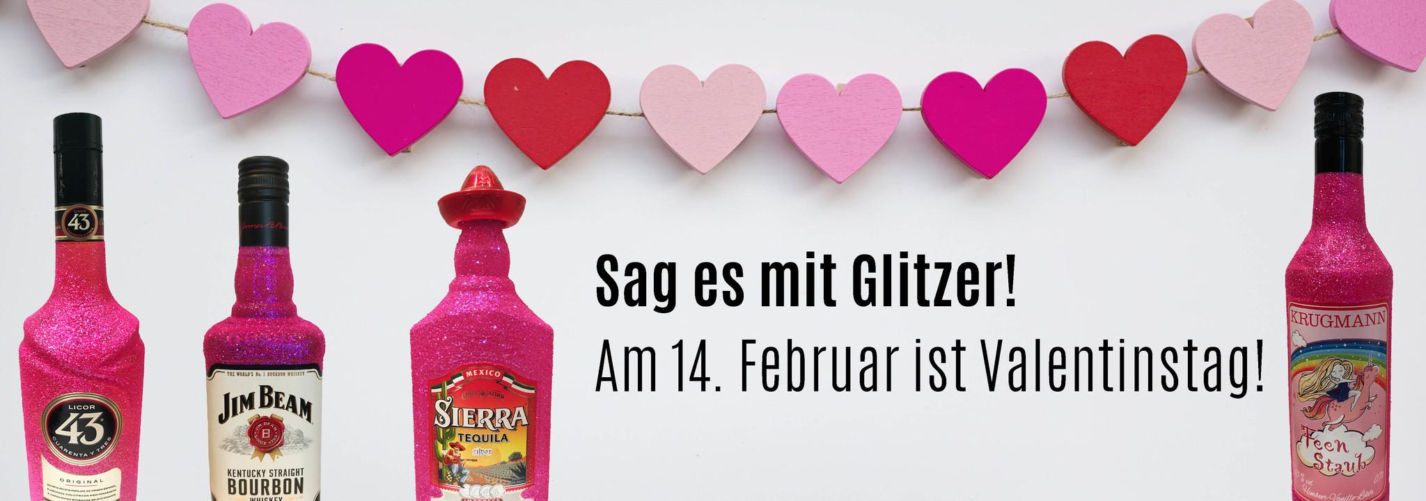 Glitzer zum Valentinstag – Bling Glitzerflasche