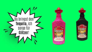 Bling Sierra Tequila – Viva Mexico Glitzerflasche