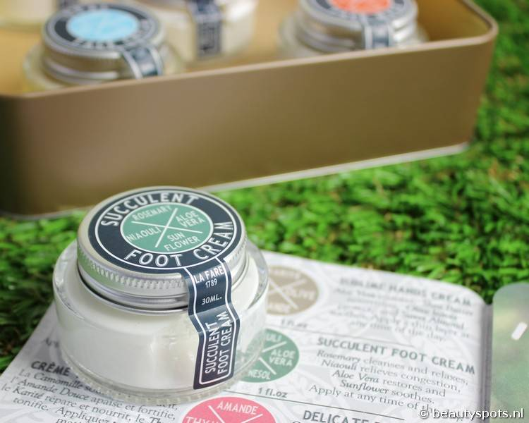 Review La Fare 1789 Foot Cream Succulent