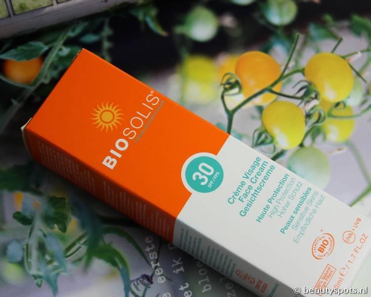 Review natuurlijke zonnecrème Biosolis Face Cream SPF 30