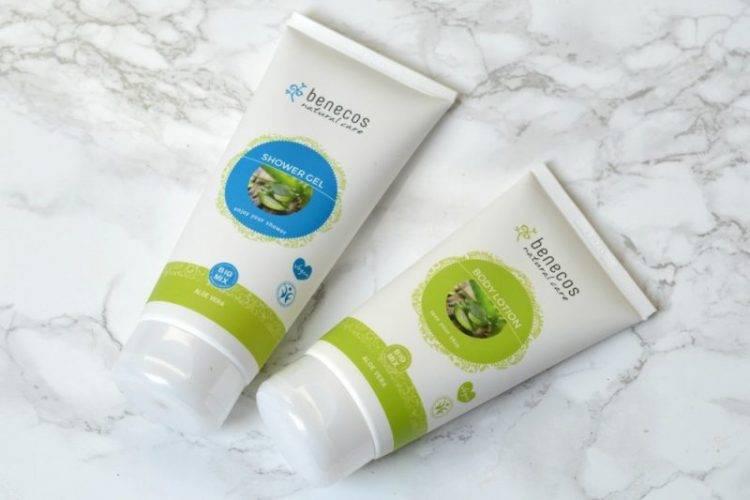 Review Benecos shower gel en body lotion aloë vera