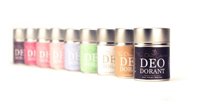 Poeder deodorant van The Ohm Collection