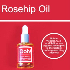 Ooh Oils of Heaven Organic Rosehip 100% Rozenbottleolie 30ml