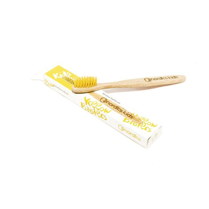 Nordics Bamboe Kids Toothbrush Yellow