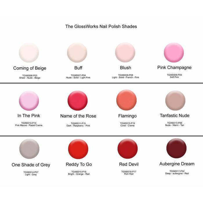 Glossworks Natuurlijke Nagellak Pink Champagne 9ml