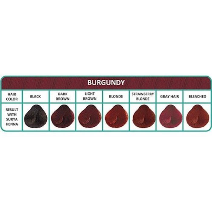 Surya Brasil Henna Haarverf Cream Burgundy 70ml