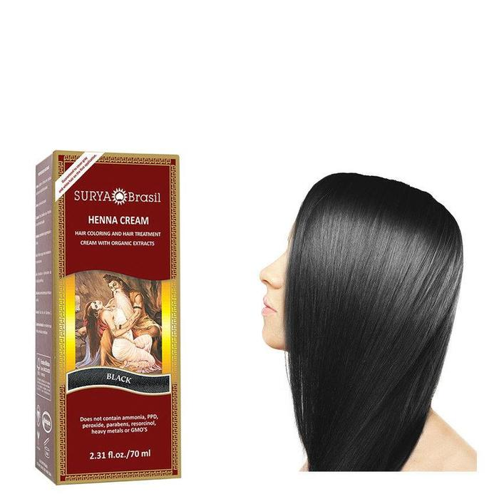 Surya Brasil Henna Haarverf Cream Black 70ml
