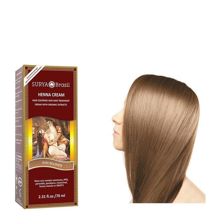Surya Brasil Henna Haarverf Cream Ash Blonde 70ml